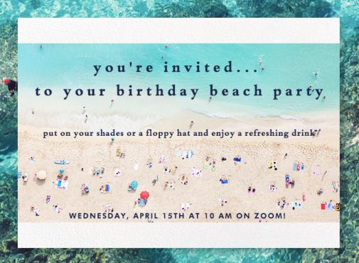 Peggy Birthday Invite